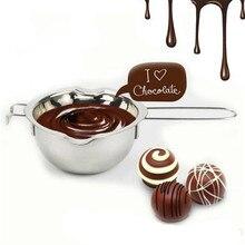 Металл шоколад масло плавления горшок Пан Главная Кухня миска молока котел из нержавеющей стали растопить шоколад Инструмент груза падения