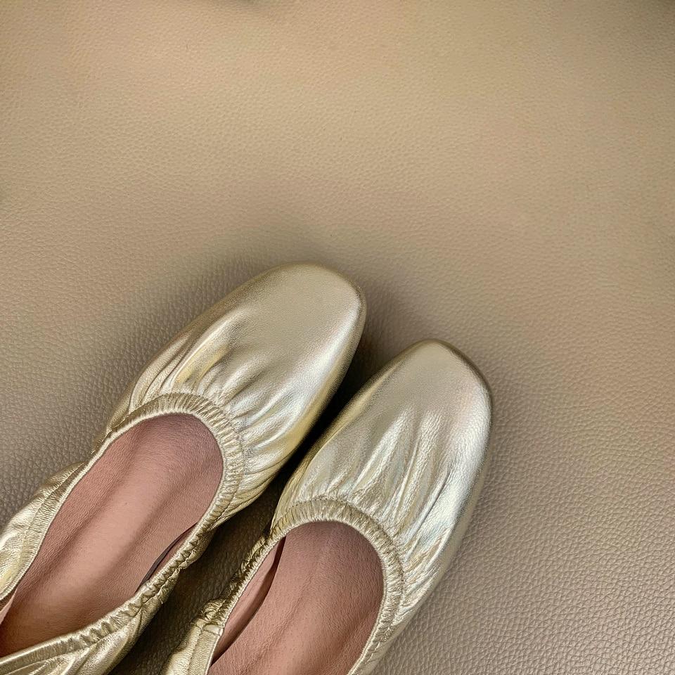 Moda Boda negro Barco Señoras Vaca La Pie Las Eshtonshero oro apricot 12 Redondo Negro Planos Dedo Tamaño Zapatos Mujeres Beige De Mujer Cuero 3 Del BxqZYTx