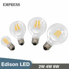 G80 G95 A60 G45 LED Edison E27 2W 4W 6W Ampoule Vintage Retro LED Light Bulb Decorative LED Filament Bulbs Christmas Light Lamp