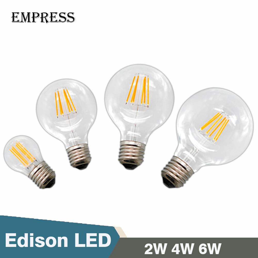 Vintage edison bulb old fashioned lamp classic a60 led 2w or 4w - G80 G95 A60 G45 Led Edison E27 2w 4w 6w Ampoule Vintage Retro Led Light Bulb