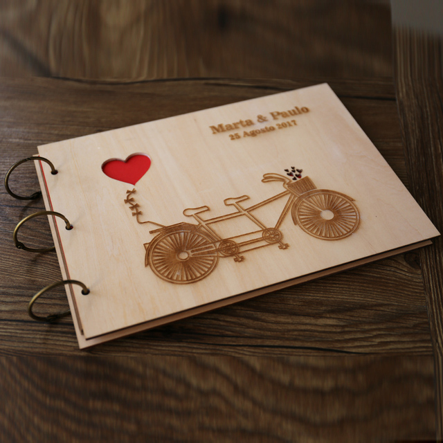 Personalized Wedding guest book, Love Rustic wedding guestbook album ...