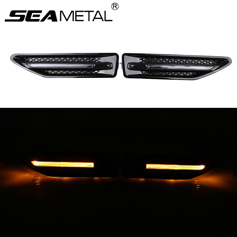 For KIA K2 RIO Sedan Hatchback 2012+ 2013 2014 2015 2016 Car Styling Luxury Turn Signal LED Fender Lamp Sidelight Side Lights комплект адаптеров kia rio 2011г sedan