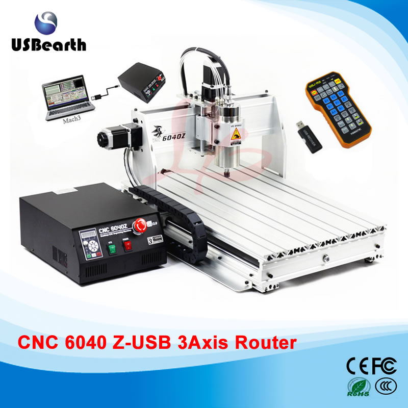 CNC engraving machine 6040Z-USB 3axis mach3 remote control with free handwheel  цены