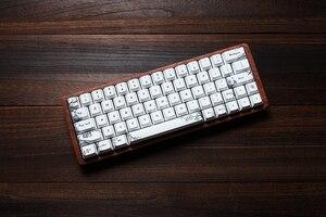 Image 5 - gk64 gk84 Mechanical keyboard 64 key 84 key dye sub keycaps wooden custom light rgb cherry profile keycap starry night free ship