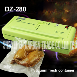 DZ-280/2SE household Food Vacuum Sealer packing  Film Sealant Vacuum packers Giving Wet and dry dual-use with Vacuum Bags