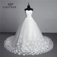 Luxus Kristall Perlen 3D Blume 2020 Vintage Spitze Hochzeit Kleid Großen Zug Plus Größe Ballkleid Robe de Mariee Vestido de Noiva