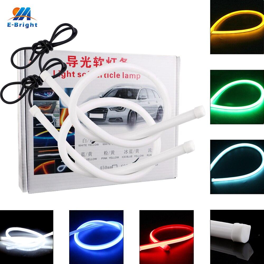 1Pair(2pcs) 30CM 45CM 60CM 85CM Car LED DRL Tears Light Daytime Running Lamp DRL Turn Light Flexible Strip Light LED Car Lights