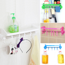 Best Price Home Bathroom Kitchen Plastic Shower Gel Storage Rack Holder Shelf Wall Suction Adsorption for shampoos shower gel