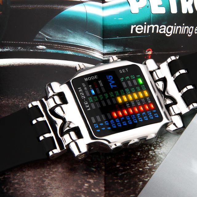 Luxury Brand TVG Watches Men Fashion Rubber Strap LED Digital Watch Men Waterproof Sports Military Watches Relogios Masculino