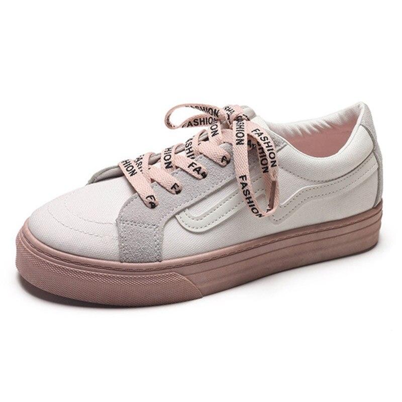 2018 Mode Koreanische Beiläufige Schuhe Frauen Schuhe Outdoor Spitze Up Wanderschuhe Frauen Wohnungen Damen Schuh Tenis Feminino Frühling Dinge Bequem Machen FüR Kunden