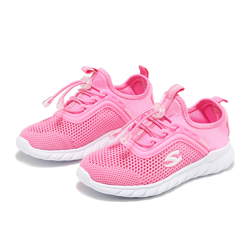 Kids Sport Shoes for Children Boys Running Girl Sneaker Shoes Summer Breathab Mesh Tennis Casual Footwear Hobibear H7716