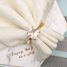 50PCS alloy napkin ring inlaid rhinestone high-end restaurant jewelry home party meal supplies