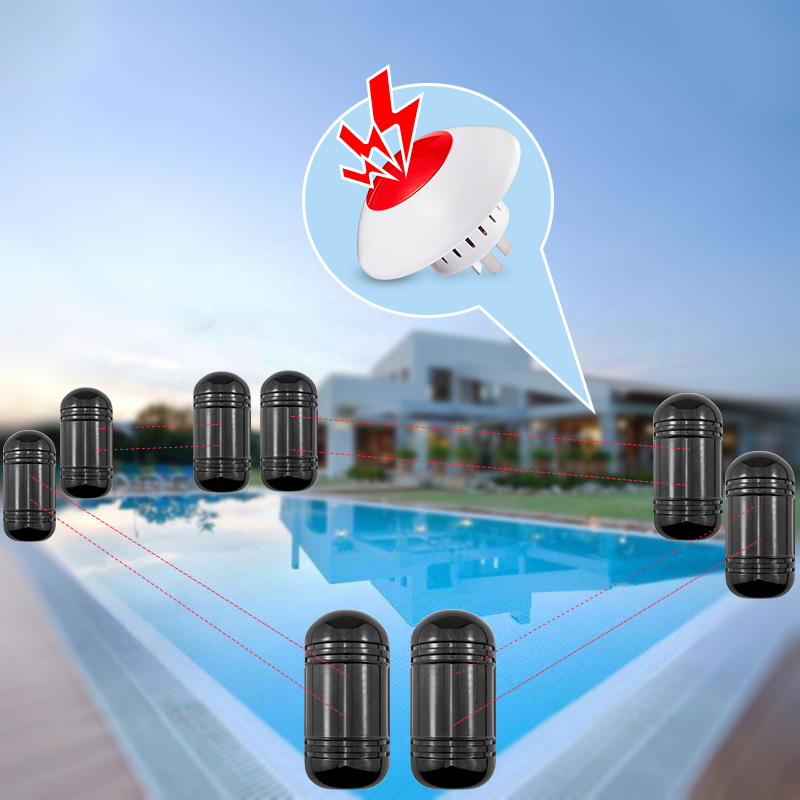 100M Outdoor Dual Beam Sensor Active Infrared Intrusion Detector IR Perimeter Wall Barrier Fence Swimming Pool DIY Alarm System цены онлайн