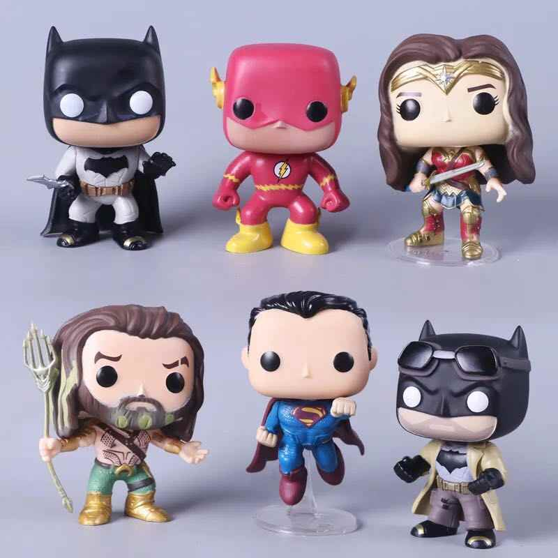 1 шт. супергероев Мстители Железный человек Халк Капитан Америка Супермен Бэтмен фигурки подарок коллекции детских игрушек