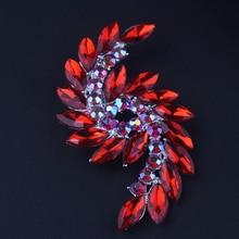Lemon Value New Bijoux Rhinestone Brooch Fashion Luxury Crystal Wedding Brooch Pins Women Jewelry Gift TP020