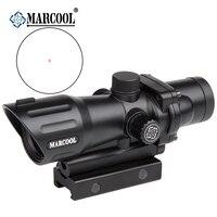 New Promotion! Marcool 1x30 Luneta Para Rifle Optical Holographic Target Collimator Red Dot Airsoft Air Gun Scope Sight AK