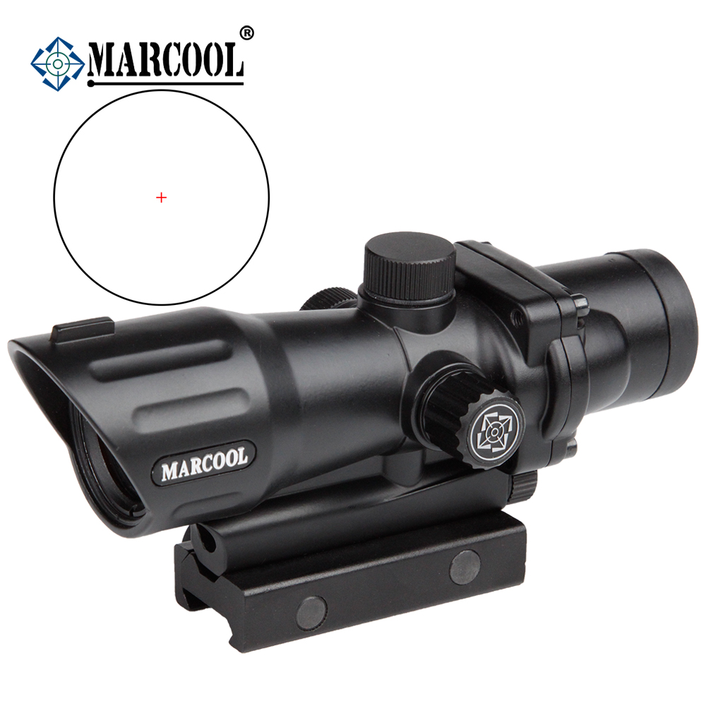 New Promotion!  Marcool 1x30 Luneta Para Rifle Optical Holographic Target Collimator Red Dot Airsoft Air Gun Scope Sight  AK