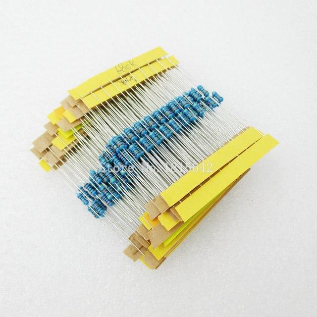 1 Pack 300Pcs 10 -1M Ohm 1/4w Resistance 1% Metal Film Resistor Resistance Assortment Kit Set 30 Kinds Each 10PCS 3