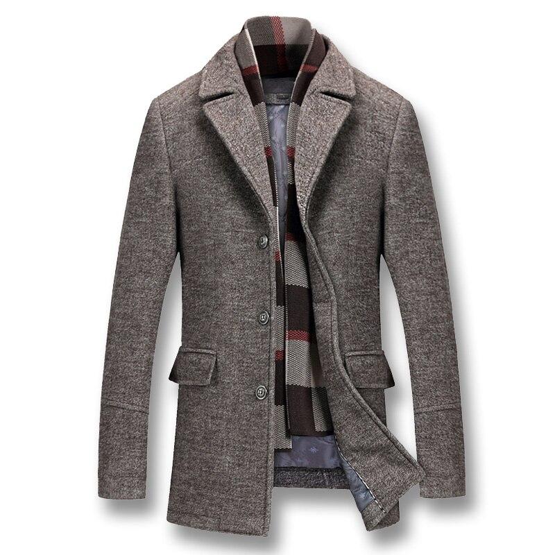 2019 мужские зимние толстые хлопковые шерстяные куртки, пальто, мужские повседневные Модные приталенные нейлоновые куртки большого размера Jaqueta верхняя одежда