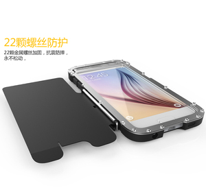Image 5 - R Nur Eisen Männer Flip Telefon Fall Shock Proof Mode Stahl Metall Rüstung Fall für Samsung S9 S8 Plus s6 S7 Rand Hinweis 9 8 5 4 3 2