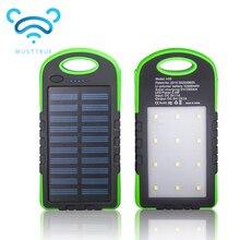 MUSTTRUE Solar Banco de la Energía Dual USB Powerbank 10000 mAh Batería Externa Cargador Portátil Batería Externa para el teléfono Móvil