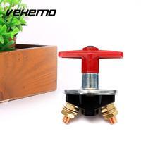 Vehemo 12 볼트 60 볼트 자동차 보트 트럭 고정 핸들 키 배터리 격리 컷 오프 스위