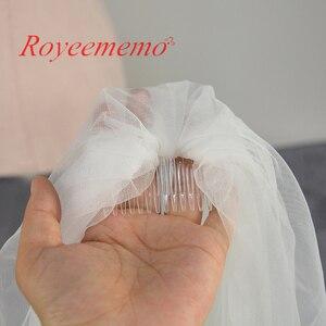 Image 4 - Voile mariage 3 m 한 레이어 레이스 화이트 아이보리 catherdal 웨딩 베일 긴 신부 베일 저렴한 웨딩 액세서리 veu de noiva