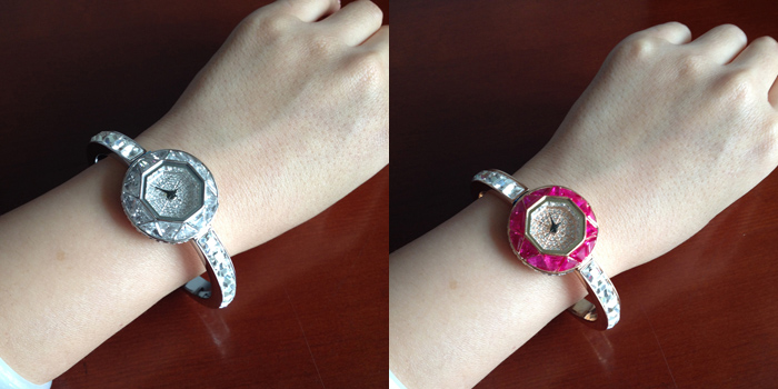 Luxo Brilhante Rhinestone Bracelet Relógio de Pulso