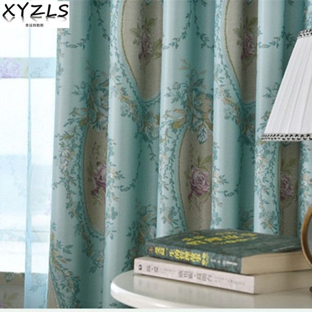 XYZLS Brand Luxury European Jacquard Sheer Tulle Curtain And Blinds Blackout Curtains For Home Bedroom