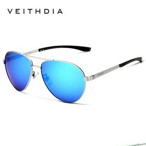 Image 4 - VEITHDIA Fashion Brand Designer Aluminum Magnesium Mens Sun Glasses Polarized Mirror lens Male Eyewear Sunglasses For Men 3801