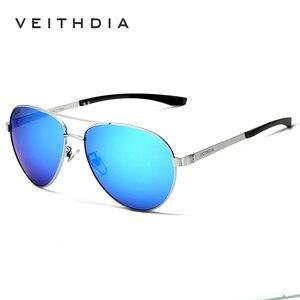 Image 4 - VEITHDIA Mode Marke Designer Aluminium Magnesium männer Sonnenbrille Polarisierte Spiegel objektiv Männlichen Brillen Sonnenbrillen Für Männer 3801