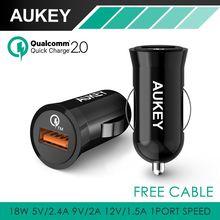 QC2.0 Aukey Para Qualcomm Carga Rápida USB Cargador de Coche Adaptador para htc m9 nexus 6 xiaomi tablet pc y más Smartphone