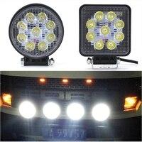 Strobe LED Offroad Trabalho Light 9x3 W Quadrado Led 12/24 V Extra Luz Portátil Luz de Inundação Caminhão Trator Motor Car Styling Atacado