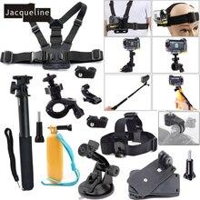 Jacqueline dla zestaw akcesoriów zestaw dla Sony Action Cam HDR AS20 AS200V AS30V AS15 AS100V AZ1 mini FDR X1000V/W 4 k Action cam