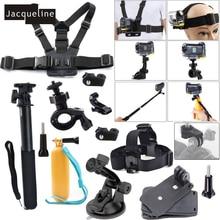 Jacqueline pour accessoires Kit ensemble pour Sony Action Cam HDR AS20 AS200V AS30V AS15 AS100V AZ1 mini FDR X1000V/W 4 k Action cam