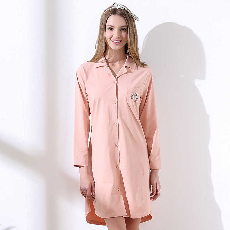 Brand cotton   nightgowns     sleepshirts   elegant   nightgowns   for women female sleepwear teenage girl lounge bathrobe onesie 2019 new