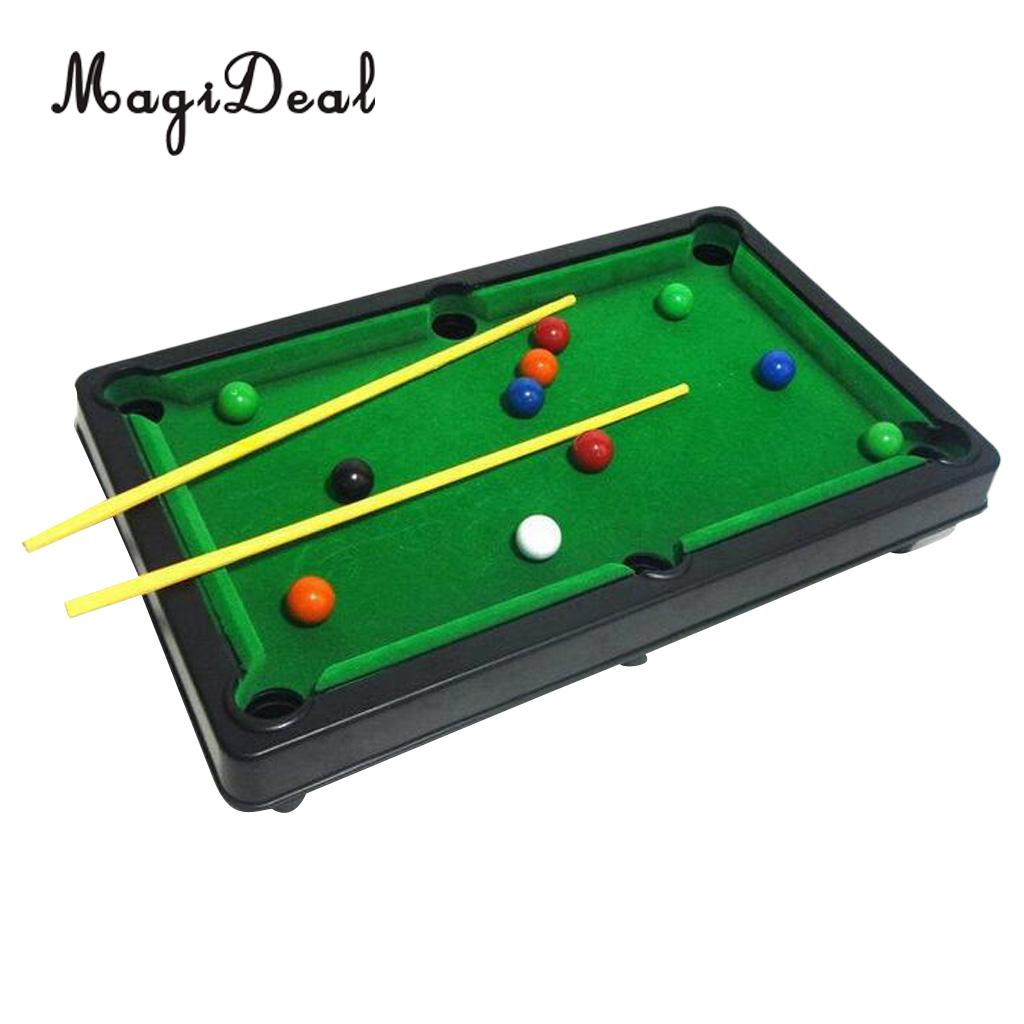 MagiDeal Children Billiards Toy Mini Table Snooker Game Set Kids Tabletop Pool Desktop Gift
