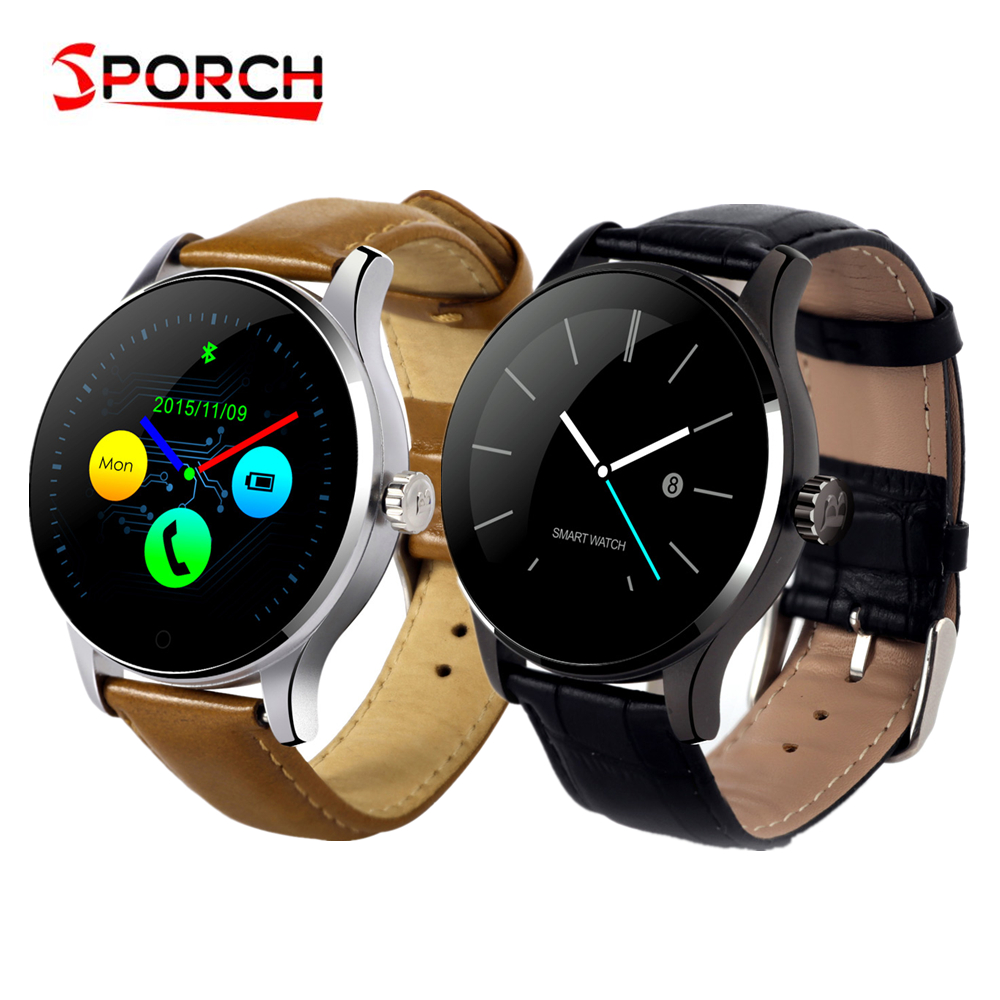 Sporch K88H Smart Watch MTK2502 Bluetooth Smartwatch Heart Rate Monitor Wearable Devices Waterproof Wristwatch For IOS Android