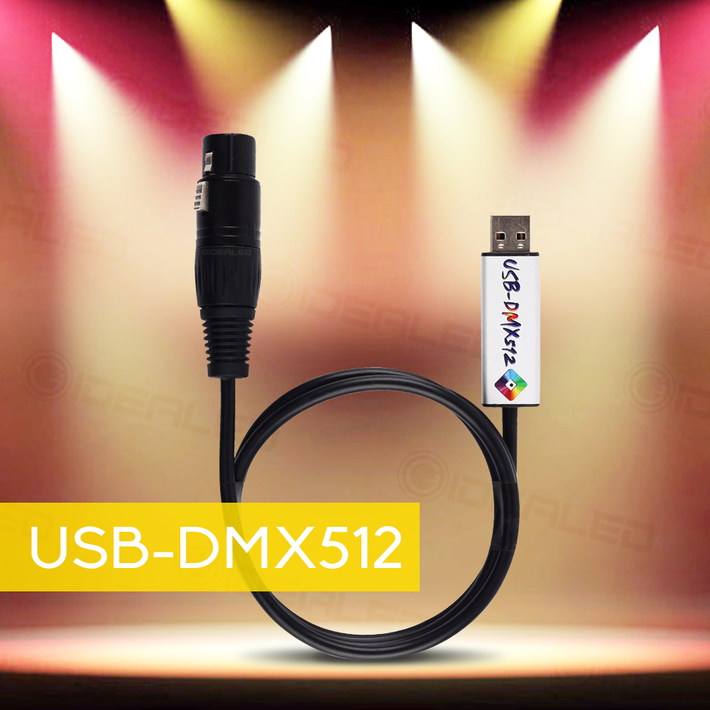 USB To DMX Interface Adapter DMX512 Studio Computer PC Stage Lighting Controller Dimmer Control Satge Effect Led Lighting