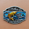 Hot Sale Fish Belt Buckles I D Rather Be Fishing Belt Buckle Men S Belt Buckle