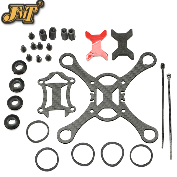 JMT Kingkong 100 Mini FPV Quadcopter Rc Drone Carbon Fiber  Frame Kit rc drones quadrotor plane rtf carbon fiber fpv drone with camera hd quadcopter for qav250 frame flysky fs i6 dron helicopter