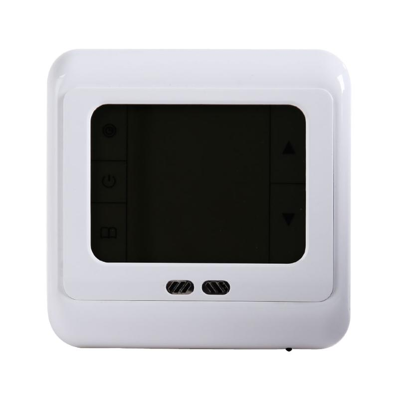 Portable LCD Touch Screen Weekly Programmable Thermostat Room Underfloor Heating System Temperature Controller With Backlight weekly programmable underfloor heating thermostat lcd touch screen room temperature controller thermostat white backlight