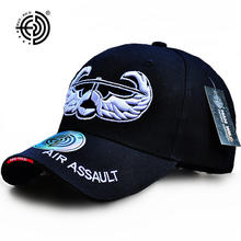 160226d690509 HAN WILD Brand Embroidery Baseball Caps Spring US Army Hat USA Air Assault  Wing LOGO Adjustable For Adult Men Women Tactical Cap