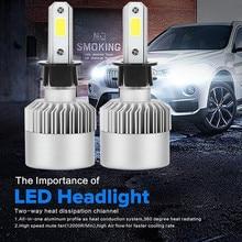 72W DC 9-32V Light LED Driving Front H3 COB LED 16000LM Auto Car Headlights Kit waterproof Driving Bulbs Lamps 6000K White