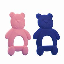 Baby Safety Silicone Cute Cartton Bears Shape Chewing Teethers For Newborn Tooth Training Toys Kid Food Grade
