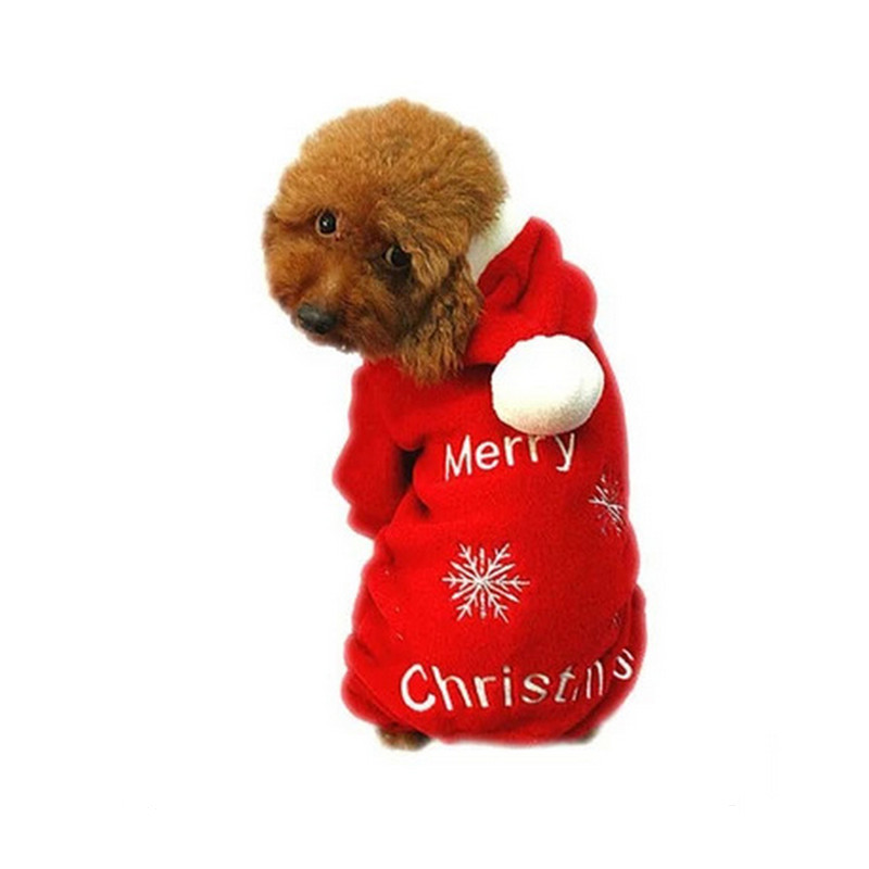 2015 Christmas Coral Fleece Four Legs A Pullover Pet Dog Clothes Teddy  Chihuahua Than Bear Autumn - Compare Prices On Dog Christmas Outfits- Online Shopping/Buy Low