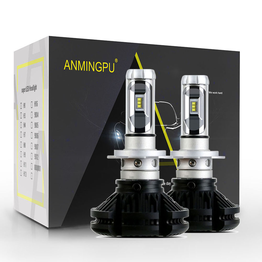 ANMINGPU 2pcs Fanless Headlight Bulbs ZES Led H4 H7 Led Bulb H8 H11 HB3/9005 HB4/9006 H1 H3 9012 H13 9007 12000lm /pair 50w cnsunnylight car led headlight bulbs all in one h7 h11 h1 880 h3 9005 9006 9012 5202 72w 8500lm h4 h13 9007 high low beam lights