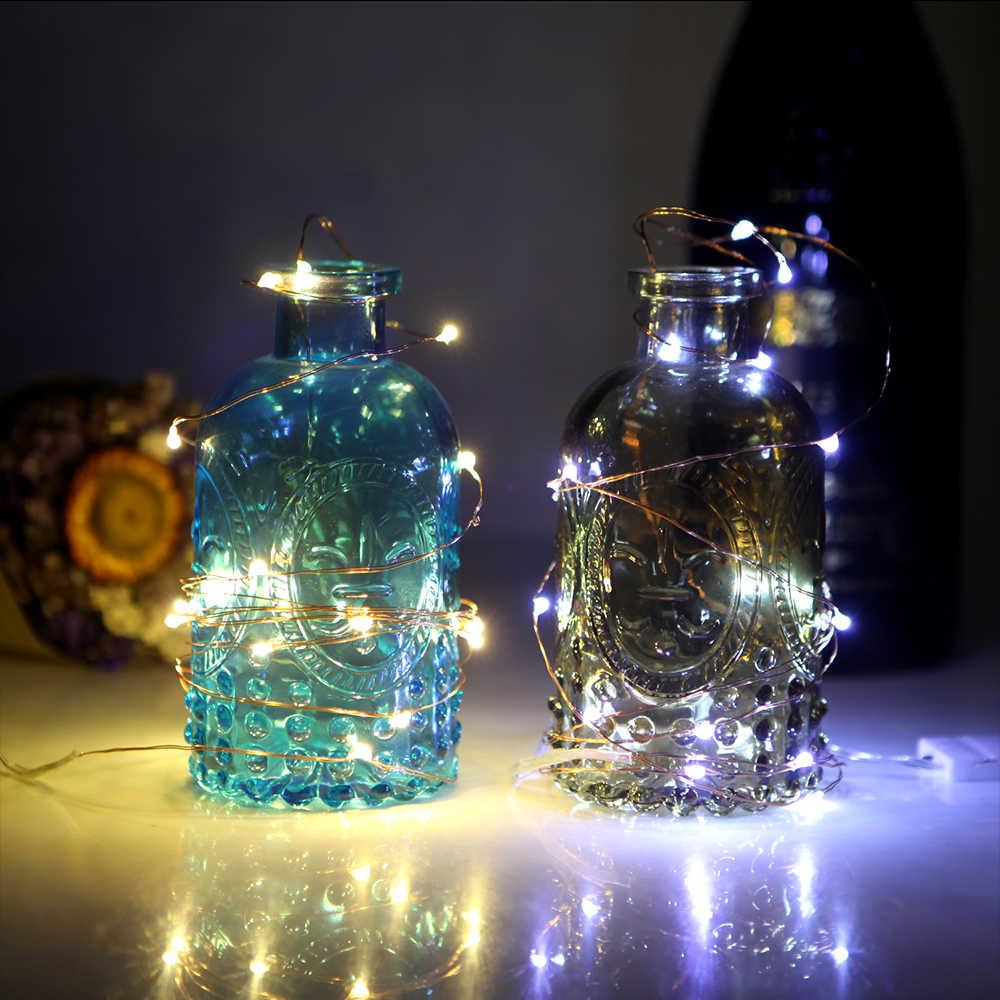 1M 10 LEDs คริสต์มาส Garland สายไฟทองแดง LED String Lamp ไฟ Fairy สำหรับในร่มใหม่ปี Xmas งานแต่งงานตกแต่ง