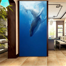 PSHINY 5D DIY diamond embroidery sale Sea Whale Animal Decorative Full Square paintings rhinestone new shelves