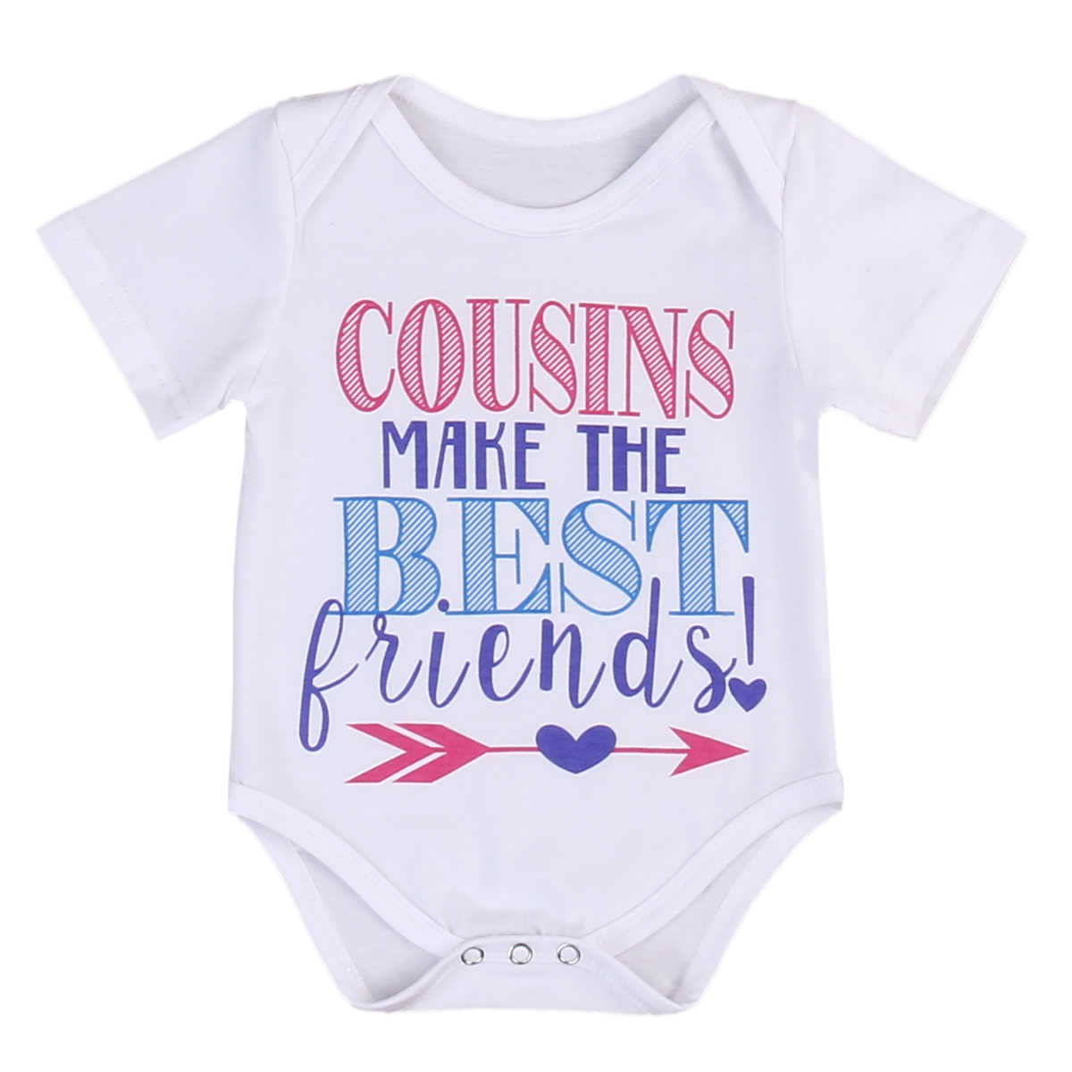 Newborn baby boy girl matching outfit brother sister t shirt word letter cousins make me